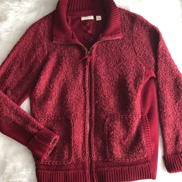 Anthropologie Sweaters - Sleeping on Snow • Zip Up Sweater